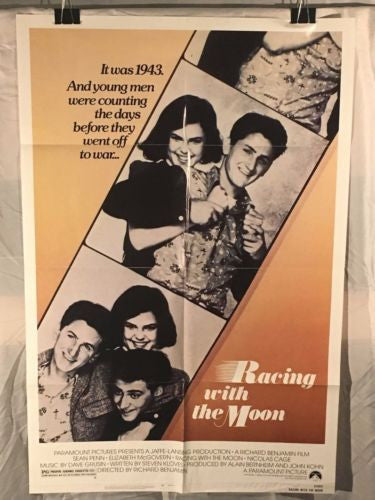 "Original 1984 ""Racing with the Moon"" 1 Sheet Movie Poster 27x 41"" Sean Penn   - TvMovieCards.com"