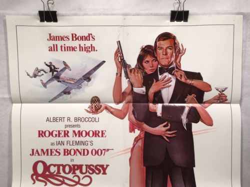 "Original 1983 ""OctoPussy""  1 Sheet Movie Poster 27""x 41"" Roger Moore James Bond   - TvMovieCards.com"