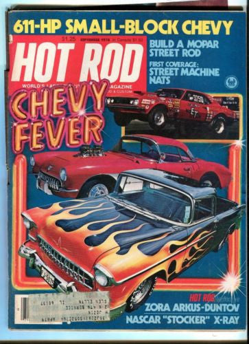1978 September Hot Rod Magazine Back Issue - Chevy Fever Street Rods   - TvMovieCards.com