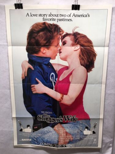 "Original 1985 ""Slugger's Wife 1 Sheet Movie Poster 27""x 41"" Rebecca De Mornay   - TvMovieCards.com"