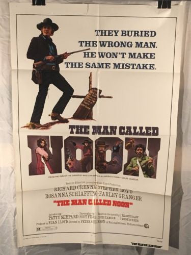 "Original 1973 ""The Man Called Noon"" 1 Sheet Movie Poster 27""x 41"""