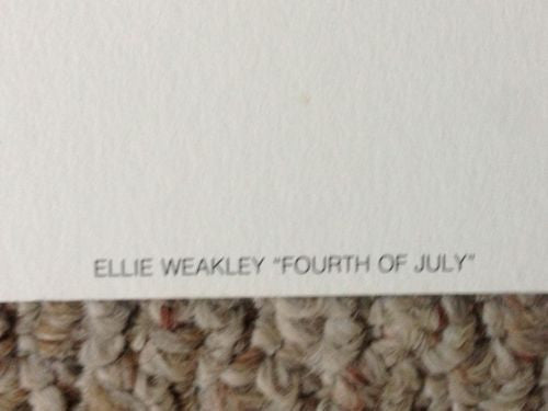"Ellie Weakley ""Fourth of July"" Lithograph Print Number/Signed   - TvMovieCards.com"