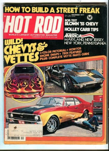 1977 January Hot Rod Magazine March Back Issue - Wild Chevys & Vettes