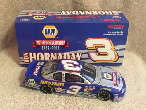 Action 1/24 Diecast #3 Ron Hornaday NAPA 75th Anniversary 2000 Monte Carlo