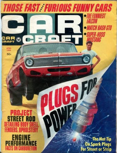1966 April Car Craft Magazine Back Issue - Those Fast / Furious Funny Cars   - TvMovieCards.com