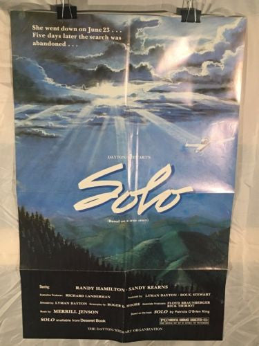 "Original 1984 Solo 1 Sheet Movie Poster 27""x 41"" Drama Family Sandy Kearns   - TvMovieCards.com"