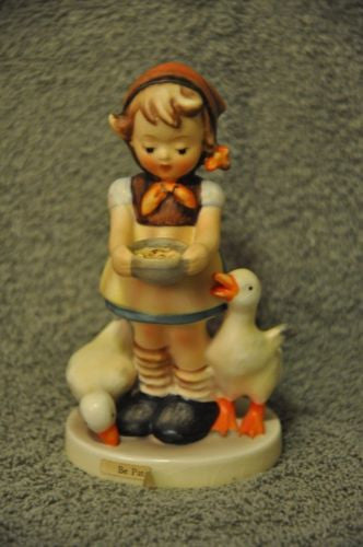 "Goebel Hummel Figurine 197 2/0 ""Be patient"" TMK4 Germany 4 1/2"""