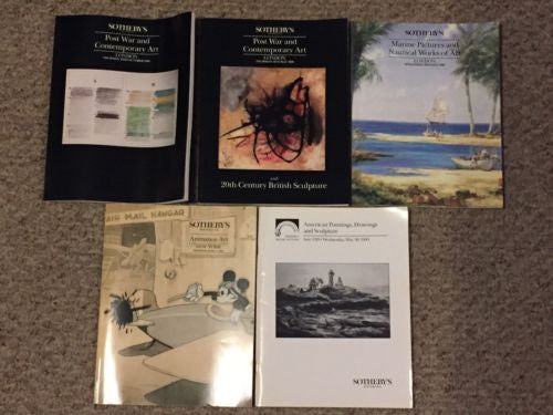 (5) Sotheby's Auction Catalog Lot Post War Contemporary Marine Animation   - TvMovieCards.com