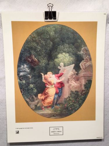 Serment D'Amour - Oath of Love -J.H. Fragonard- New York Graphic 15x11 Art Print   - TvMovieCards.com