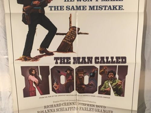 "Original 1973 ""The Man Called Noon"" 1 Sheet Movie Poster 27""x 41""   - TvMovieCards.com"
