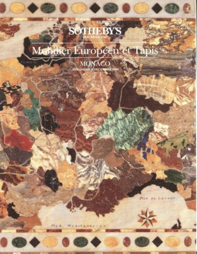 Sotheby's Auction Catalog December 9 1990 - Mobilier Europeen et Tapis Monaco   - TvMovieCards.com