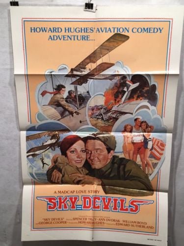 "1979 Rerelease (1932) ""Sky Devils"" One Sheet Movie Poster - 27x41   - TvMovieCards.com"