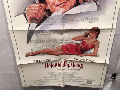 "Original 1984 ""Unfaithfully Yours"" 1 Sheet Movie Poster 27""x 41"" Dudley Moore   - TvMovieCards.com"