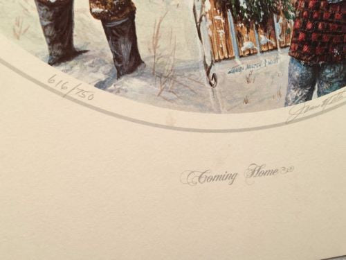 "James Milton Smith ""Coming Home"" Signed Lithograph Print 616/750   - TvMovieCards.com"