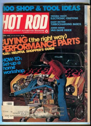 1976 April Hot Rod Magazine Back Issue - Buying Performance Parts Shoppers Guide