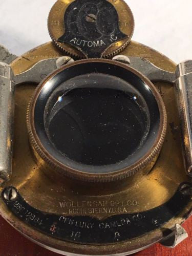 Wollensak Opt Co CCC Automatic Century Rapid Convertible 4x5 Lens 1901   - TvMovieCards.com
