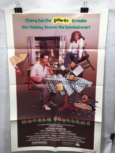 "Original 1981 ""Modern Problems"" 1 Sheet Movie Poster 27""x 41"" Chevy Chase   - TvMovieCards.com"
