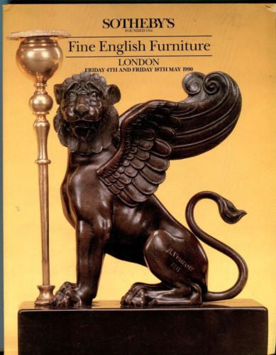 Sotheby's Auction Catalog May 18th 1990 - Fine English Furniture - London   - TvMovieCards.com
