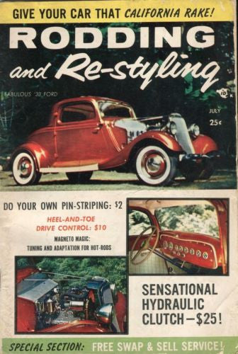 Rodding and Re-Styling July Digest Magazine Fabulous '33 Ford   - TvMovieCards.com