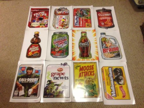 2012 Topps Series 1 Wacky Packages Poster Complete Set All 24 Not folded Mint   - TvMovieCards.com