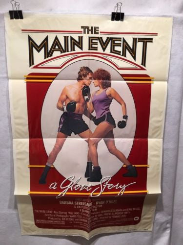 "Original 1979 ""The Main Event"" 1 Sheet Movie Poster 27x 41"" Barbra Streisand   - TvMovieCards.com"