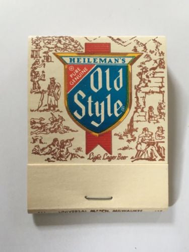Lot of (5) Vintage Matchbook - Heileman's Old Style Beer LaCrosse WI w/ matches   - TvMovieCards.com