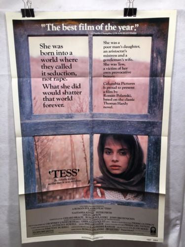 "Original 1981 ""Tess"" 1 Sheet Movie Poster 27""x 41"" Nastassia Kinski   - TvMovieCards.com"