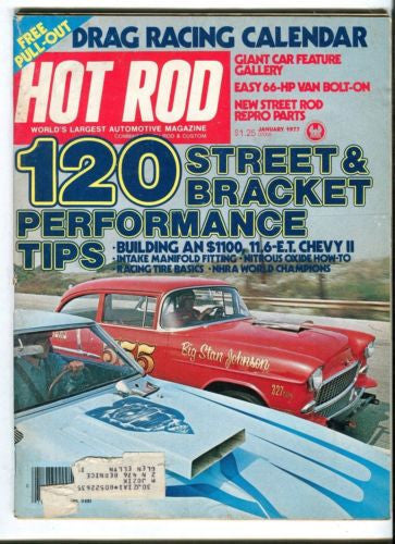 1977 January Hot Rod Magazine March Back Issue - 120 Street & Bracket Tips   - TvMovieCards.com