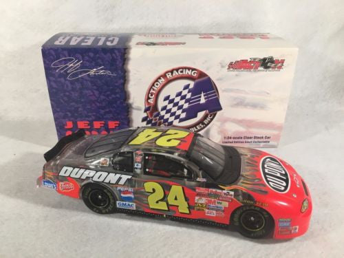 Action 1/24 Diecast #24 Jeff Gordon Dupont 2002 Monte Carlo Clear Stock Car