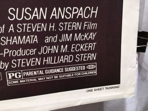 "Original 1979 ""Running"" 1 Sheet Movie Poster 27""x 41"" Michael Douglas   - TvMovieCards.com"