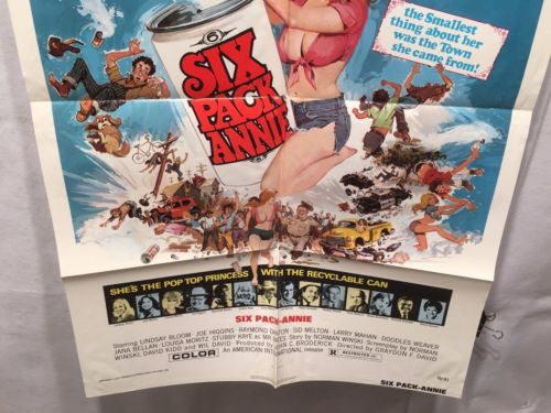 "Original 1975 ""Six Pack Annie"" 1 Sheet Movie Poster 27""x 41"" Lindsay Bloom   - TvMovieCards.com"