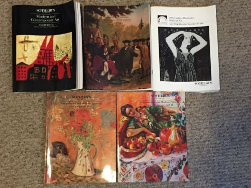 (5) Sotheby's Auction Catalog Lot Art Modern Contemporary American Impressionist   - TvMovieCards.com