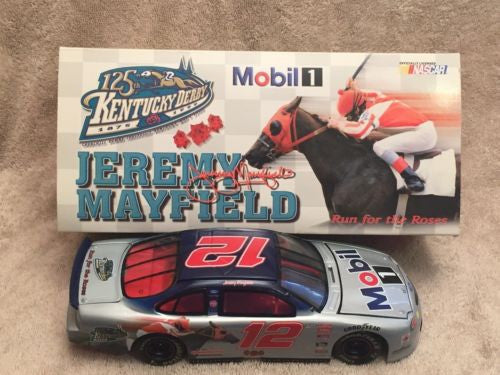 Action 1/24 Diecast #12 Jeremy Mayfield Mobil 1 125th Kentucky Derby 1999 Taurus   - TvMovieCards.com