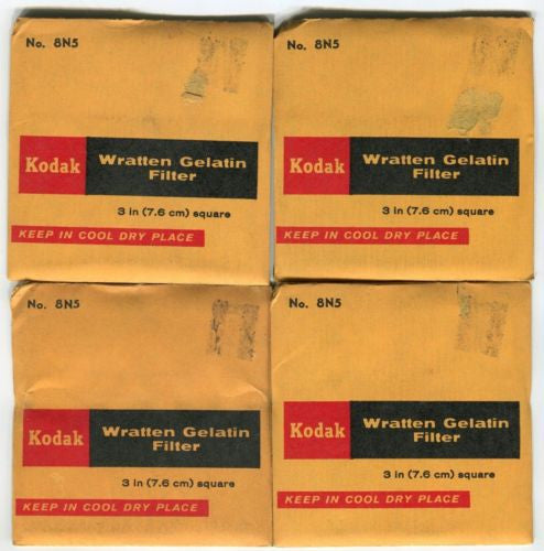 (4) Kodak 85N3 WRATTEN Color Balance & ND Combo Filter GEL For BOLEX ARRI AATON   - TvMovieCards.com
