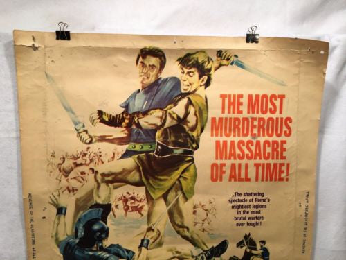 "Vintage Original 1965 Revenge of the Gladiators Movie Poster 40"" x 30""   - TvMovieCards.com"