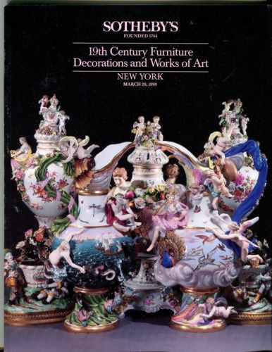 Sotheby's Auction Catalog March 24th 1990 Furniture Decorations and Works of Art   - TvMovieCards.com