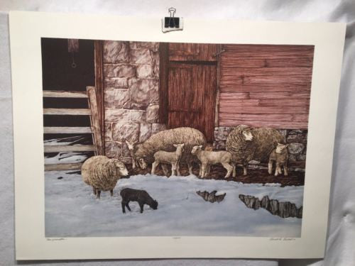 "Vintage 1980 Gualo H. Lubeck ""New Generation"" Sheep Print Signed Numbered 63/275   - TvMovieCards.com"