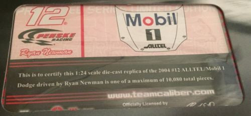 Team Caliber 1/24 Diecast Nascar #12 Ryan Newman Alltel Mobile 1 2004 Dodge   - TvMovieCards.com