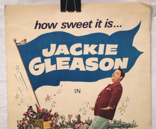 "Papa's Delicate Condition Insert 14"" x 36"" 1963 Jackie Gleason Glynis Johns   - TvMovieCards.com"