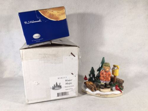 "Goebel Hummel Figurine Autumn Delights 1113-D & TMK8 #2221 ""All Bundled Up"""