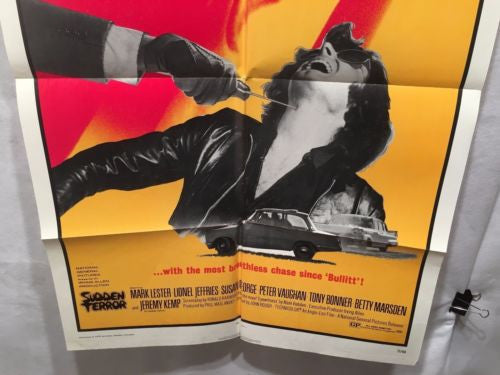 "Original 1971 ""Sudden Terror"" 1 Sheet Movie Poster 27""x 41""   - TvMovieCards.com"