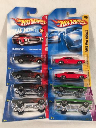 2008 Hot Wheels Lot of (8) '70 Chevelle SS '69 Red Super Bee 69' Green Charger   - TvMovieCards.com