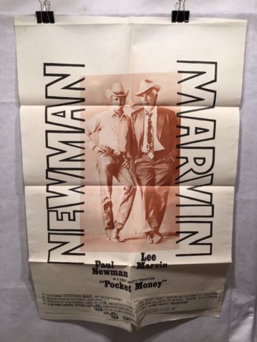 "Original 1972 ""Pocket Money"" 1 Sheet Movie Poster 27x 41"" Paul Newman Marvin   - TvMovieCards.com"