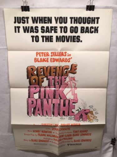 "Original 1978 ""Revenge of the Pink Panther "" 1 Sheet Movie Poster 27""x 41""   - TvMovieCards.com"