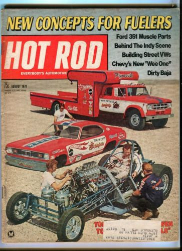 1970 August Hot Rod Magazine March Back Issue - New Concepts for Fuelers