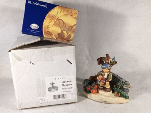"Goebel Hummel Figurine Autumn Delights 1113-D & TMK8 #2220 ""School Days"""