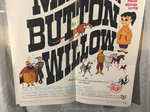"Original 1969 ""Man from Button Willow"" 1 Sheet Movie Poster 27""x 41""   - TvMovieCards.com"