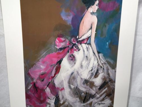 "Steven Stipelman - Waiting in White - Bride Abstract Art Print Poster 32"" x 24""   - TvMovieCards.com"