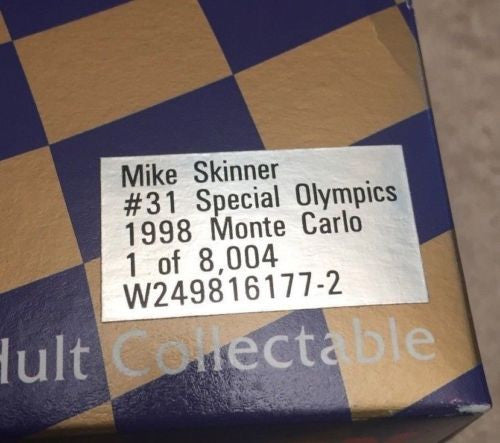 Action 1/24 Diecast #31 Mike Skinner Lowes Special Olympics 1998 Monte Carlo   - TvMovieCards.com