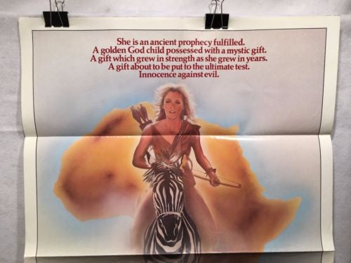 "Original 1984 ""Sheena"" 1 Sheet Movie Poster 27""x 41"" Tanya Roberts   - TvMovieCards.com"
